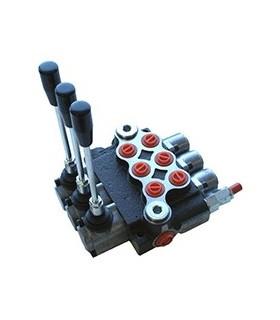 Distribuidor Hidráulico Monobloc 3 palancas 45 lts/min - Galtech