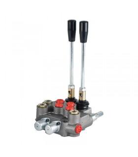Distribuidor hidráulico compacto, 2 palancas, 45 lts/min, 210 bar max. presión (Motor hidráulico)