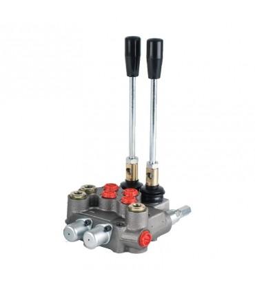 Distribuidor hidráulico compacto, 2 palancas, 45 lts/min, 210 bar max. presión