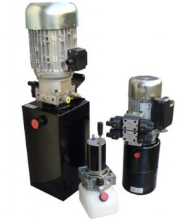 Grupo Hidráulico. 2Cv, 220/380V @ 50Hz, 4 cc/rev, presión de trabajo 60 bar.