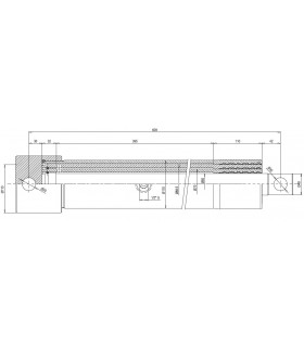 Cilindro hco. Telescópico 3 sec. Ø88,5mm x 1185 mm carrera