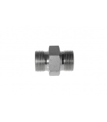 "Adaptador BSP Macho 1/4"" X BSP Macho 1/2""."