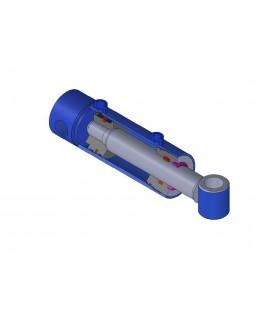 Cilindro hidráulico Doble Efecto Øvástago: 30 mm Øpistón50 mm, Carrera: 500 mm, con brida dlantera.